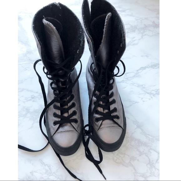 6022ca5cbc1e Converse Shoes - CONVERSE • chuck taylor metallic zip sneaker boot